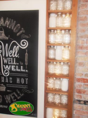 These Mason jars were so cute